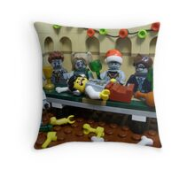 The Last Zombie Supper At Christmas Throw Pillow