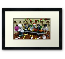 The Last Zombie Supper At Christmas Framed Print