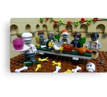 The Last Zombie Supper At Christmas Canvas Print