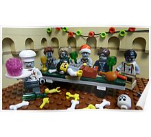 The Last Zombie Supper At Christmas Poster