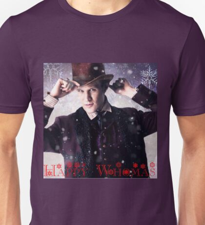 Doctor who 11th Doctor/ happy Whomas  Unisex T-Shirt
