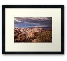 Cloaked in the Drama of the Approaching Storm Framed Print