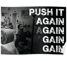 Push It - Squat Motivaiton Poster
