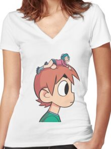 Ramona on the Mind Women's Fitted V-Neck T-Shirt