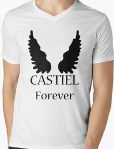 Castiel Forever Mens V-Neck T-Shirt