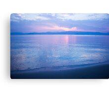 Morning sea-mirror Canvas Print