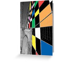 Brooklyn Bridge Analogue Greeting Card