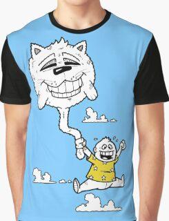 Cat Balloon Graphic T-Shirt