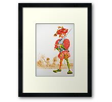 Little Tailor 5-  rejected Cover , (pen & ink, watercolour on paper) Framed Print