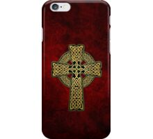 Celtic Cross in gold colors iPhone Case/Skin