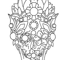 Royal Dead, Floral Detail Crown and Skull. by bblane