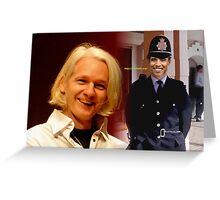 The Crucifixion of Julian Assange Greeting Card