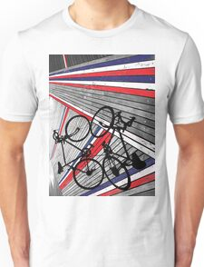 Red, White and Blue Bike Unisex T-Shirt