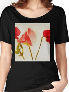 Sweet Pea Watercolour Women's Relaxed Fit T-Shirt