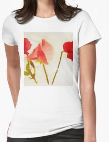 Sweet Pea Watercolour Womens Fitted T-Shirt