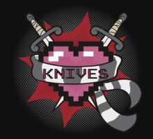 Heart Crest - Knives (BLACK TEES VERS.) by mutantninja