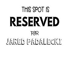 This spot is reserved for Jared Padalecki by meggie1tr
