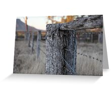 The Fence Post Greeting Card