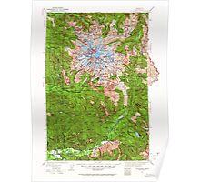 USGS Topo Map Washington State WA Mt Rainier 242665 1924 125000 Poster