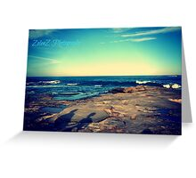 Blue Sky Blue Greeting Card