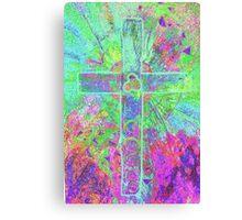 CELTIC CROSS    Vibrant colours with a soul Canvas Print