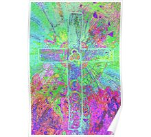 CELTIC CROSS    Vibrant colours with a soul Poster