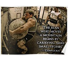 Strongman Motivation - The Man Who Moves Mountains Poster