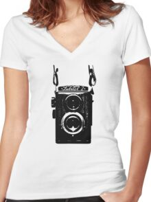Lubitel Camera Women's Fitted V-Neck T-Shirt