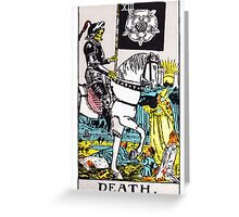 Tarot - Death Greeting Card
