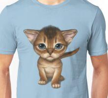 Cat-a-clysm: Abyssinian kitten, blue tiger pattern. Unisex T-Shirt