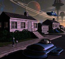 Deep Space Suburbia by Dreamscenery