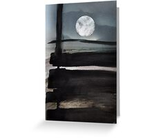 The moon beyond Greeting Card