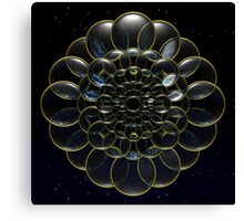 Cosmic Lens Flower Canvas Print