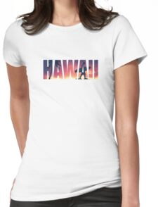 Vintage Filtered Hawaii Postcard Womens Fitted T-Shirt