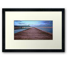 Down the Boardwalk Framed Print