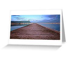 Down the Boardwalk Greeting Card