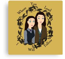 Disney Gilmore Girls Canvas Print