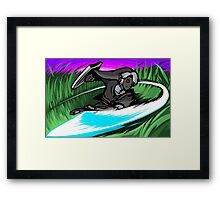 Dark Link   Sword Slash Framed Print