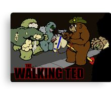 The Walking Ted - poster Canvas Print