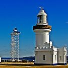 New and the old Lighthouse. by waxyfrog
