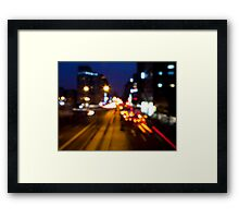 City Night Framed Print