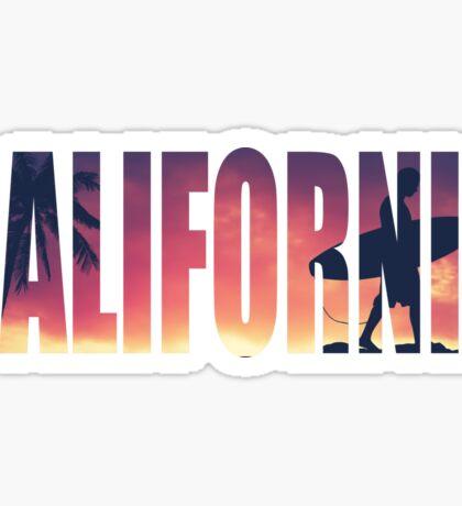 Vintage Filtered California Postcard Sticker