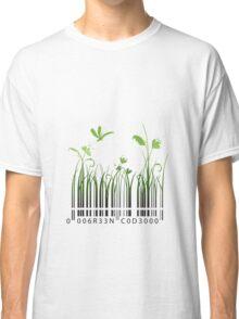 Green Barcode Classic T-Shirt