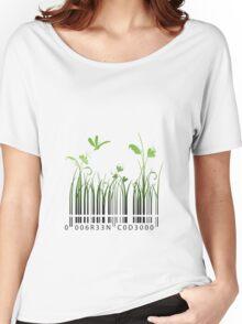 Green Barcode Women's Relaxed Fit T-Shirt
