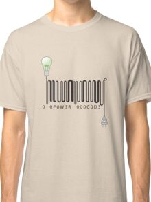 Electric barcode Classic T-Shirt
