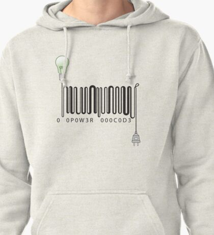 Electric barcode Pullover Hoodie