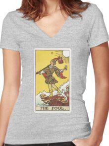 Tarot - The Fool Women's Fitted V-Neck T-Shirt