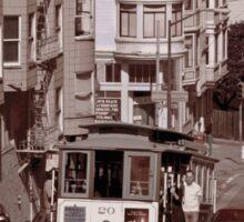 Cable Car and Alcatraz Sticker
