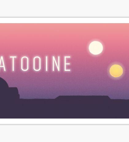 Tatooine landscape Sticker