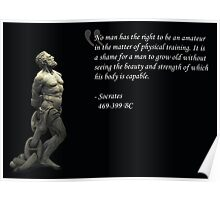Strength and Beauty (Socrates) Poster